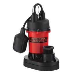 Red Lion Thermoplastic Sump Pump with Tethered Float Switch 3600 Gph