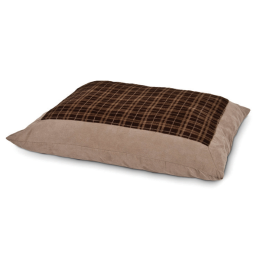 Aspen Pet Plush Plaid Pillow Bed 27 in x 36 in