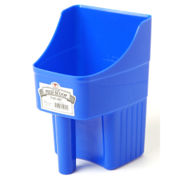 Little Giant Enclosed Feed Scoop Blue 3 qt