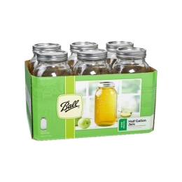 Ball Wide Mouth Mason Jars with Lids 1/2 gal 6 Pack