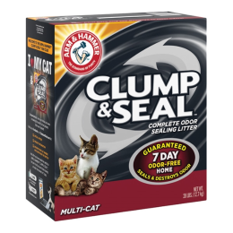 Arm & Hammer Clump & Seal Multi-Cat Cat Litter 28 lb