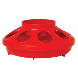 Little Giant Plastic Feeder Base Red 1 qt