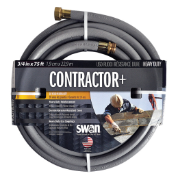 Swan Contractor+ Heavy-Duty Hose 3/4 in x 75 ft