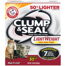 Arm & Hammer Clump & Seal Lightweight Cat Litter 15 lb