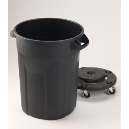 Semco Ecotuff Trash Can With Lid 32 gal