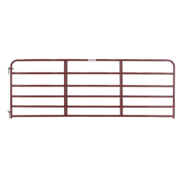 Tarter 6 Bar Economy Tube Gate Red 12 ft