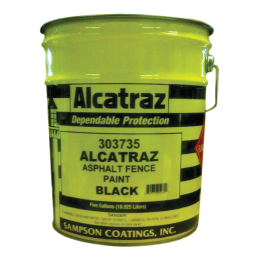 Sampson Coatings Alcatraz Asphalt Fence Paint 5 gal
