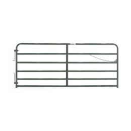 Tarter 6 Bar Extra Heavy-Duty Bull Gate Green 10 ft