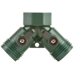 Melnor Poly Two-Way Hose Connector With Built in Shut-Off Valves