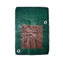 Tru-Guard Polyethylene Tarp, Green/Brown 8 ft x 10 ft