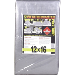 Weathermaster Heavy Duty Silver/Black Tarp