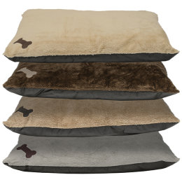 DMC Knife Edge Pillow Pet Bed With Applique 25 in