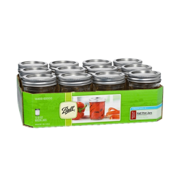 Ball Regular Mouth Mason Jars with Lids 8 oz 12 Pack
