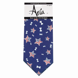 Aria Bone In The USA Bandana For Pets Blue