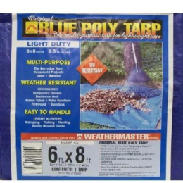 Weathermaster Blue Poly Tarp 6'x8'