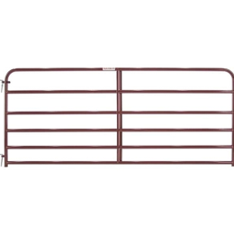 Tarter 6 Bar Economy Tube Gate Red 10 ft