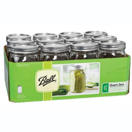 Ball Wide Mouth Quart Mason Jars with Lids 12 Pack