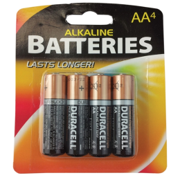Duracell Alkaline AA Battery 4 Pack