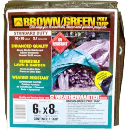 Weathermaster Brown/Green Poly Tarp