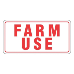 Farm Use License Plate 6 in x 12 in