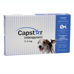 Capstar Flea Treatment For Dogs and Cats 2-25 lbs 6 Pack