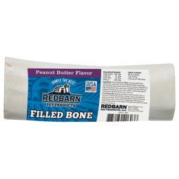 Red Barn Filled Bone Peanut Butter Dog Treats Large