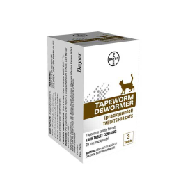 Bayer Tapeworm Dewormer For Cats 3 Pack