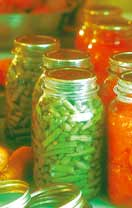 Canned food in Mason jars